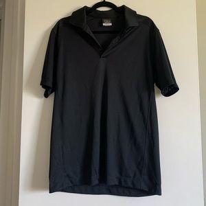 Nike Golf Dri-Fit Black Collared Short Sleeve Polo